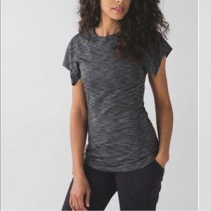 NWT Lululemon & go take off tee shirt gray